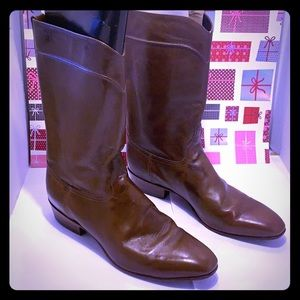 GentlyUsed Justin JS Men Leather Cognac Boots: 11D